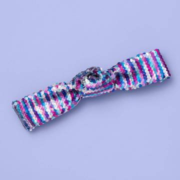 More Than Magic Girls' Reversible Sequin Knot Headband - More Than