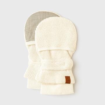 Goumikids Goumi Baby Organic Cotton Knit Mittens - Off-white