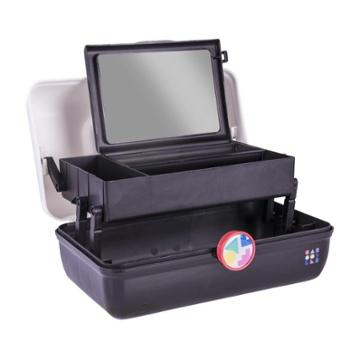 Retro Caboodles On The Go Girl Case White And Black Two Tone