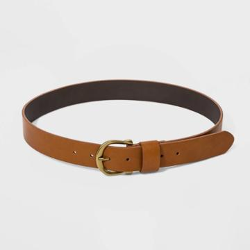 Women's Plus Size Horseshoe Buckle Belt - Universal Thread Cognac 4x, Women's, Size: