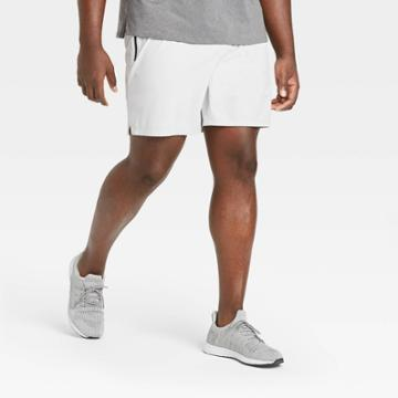 Men's Stretch Woven Shorts - All In Motion Silver Gray S, Men's,