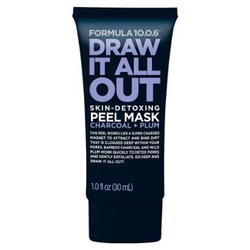 Formula 10.0.6 Draw It All Out Skin Detoxing Peel Mask - Charcoal + Plum
