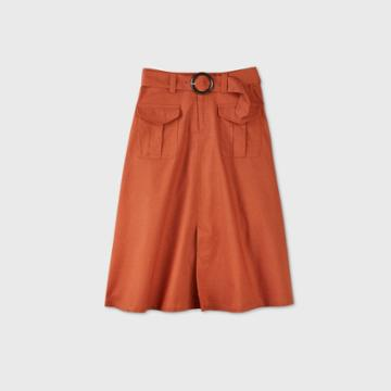 Women's Utility A-line Midi Skirt - Who What Wear Brown