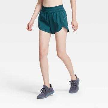 Women's Mid-rise Run Shorts 3 - All In Motion Teal Xs, Women's, Blue