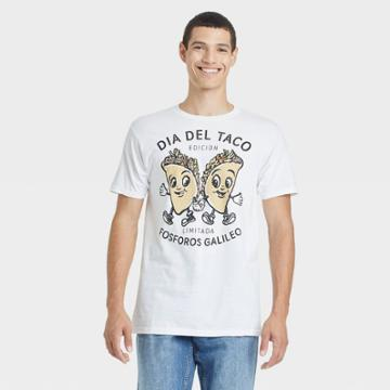 Bioworld Men's Fosforos Galileo Taco Short Sleeve Graphic T-shirt - White