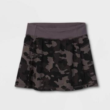 Girls' Stretch Woven Performance Skorts - All In Motion Gray
