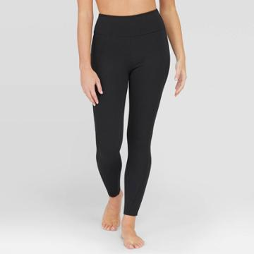 Assets By Spanx Women's Ponte Shaping Leggings - Black M,