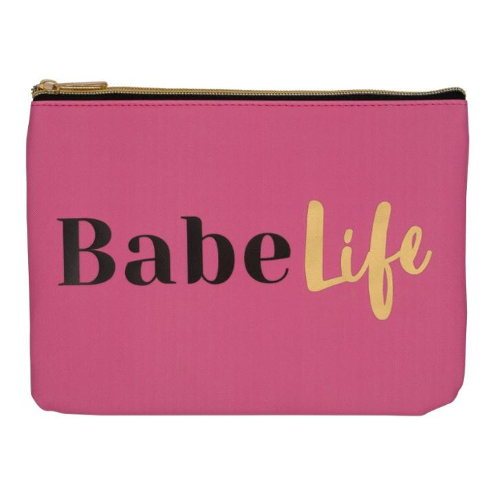 Ruby+cash Faux Leather Makeup Bag & Organizer - Babe