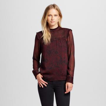 Women's Ruffle Blouse Purple L - Who What Wear,