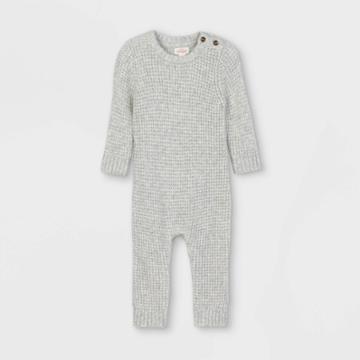 Baby Sweater Jumpsuit - Cat & Jack Gray Newborn