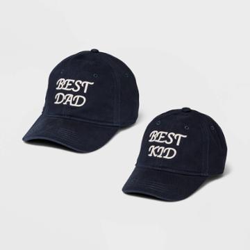 Men's Best Dad Baseball Hat - Goodfellow & Co Navy, Blue