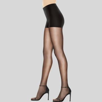 Hanes Premium Women's Perfect Nudes Control Top Silky Ultra Sheer Pantyhose - Black