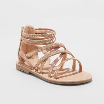 Toddler Girls' Cami Gladiator Sandals - Cat & Jack Rose Gold 5, Toddler Girl's, Pink