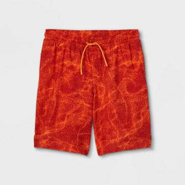 Boys' Quick Dry Board Shorts - All In Motion Orange