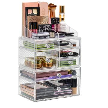 Sorbus Stackable And Interchangeable Makeup Organizer - Clear