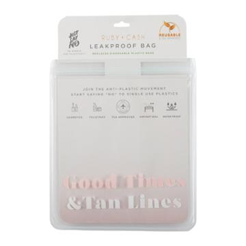 Ruby+cash Good Times Leakproof Quart Size Bag - Tsa Approved