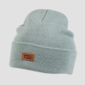 Denizen From Levi's Men's Leather Patch Beanie - Teal