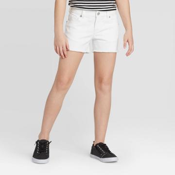 Girls' Jean Shorts - Cat & Jack White Wash Xs, Girl's, White Blue