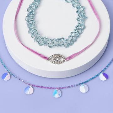 More Than Magic Girls' 3pk Sequin Choker Necklace Set - More Than
