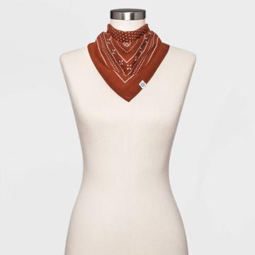 Women's Polka Dot Bandana - Universal Thread Brown
