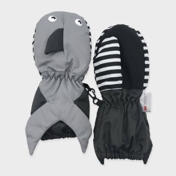 Toddler Boys' Shark Ski Mittens - Cat & Jack Black/gray