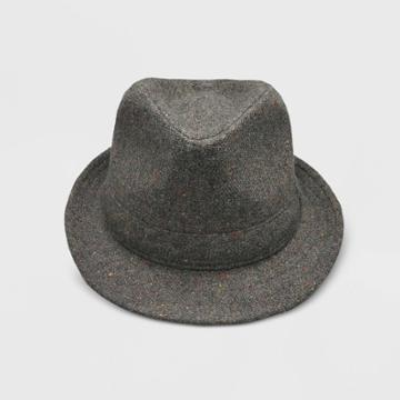 Baby Boys' Woven Fedora Hat - Cat & Jack Dark Gray