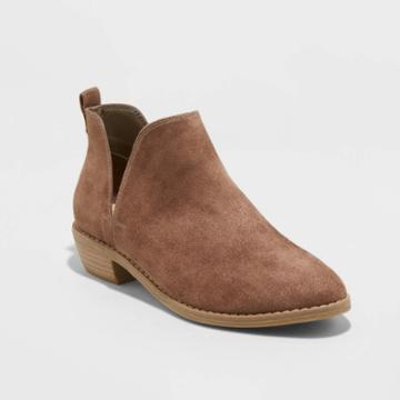 Women's Nora Cut Out Ankle Bootie - Universal Thread Taupe