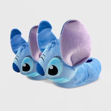 Kids' Disney Stitch Slide Slippers - Blue 5-6 - Disney