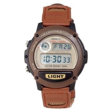 Casio Men's Nylon Strap Watch - Brown (w89hb-5av), Beige