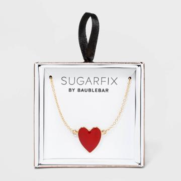 Sugarfix By Baublebar Delicate Heart Pendant Necklace - Red, Women's,
