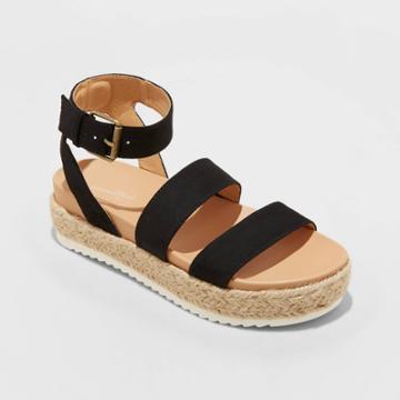 Women's Annie Platform Sandals - Universal Thread Black