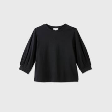 Women's Balloon Long Sleeve Blouse - Prologue Black
