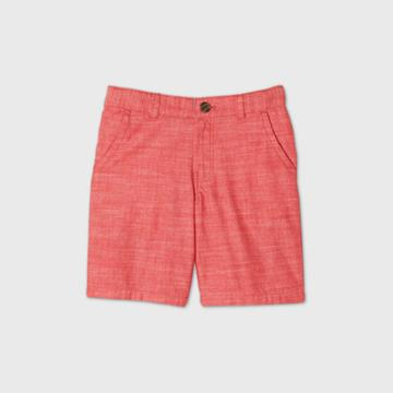 Boys' Flat Front Chino Shorts - Cat & Jack Red