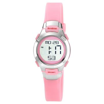 Women's Armitron Digital And Chronograph Sport Resin Strap Watch - Pink, Size: Small, Pink