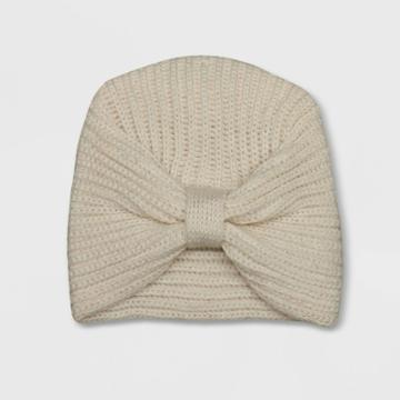 Baby Girls' Large Bow Fleece Hat - Cat & Jack Cream Newborn, Ivory