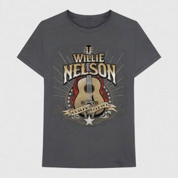 Bravado Men's Willie Nelson Short Sleeve Graphic T-shirt - Gray S, Men's,