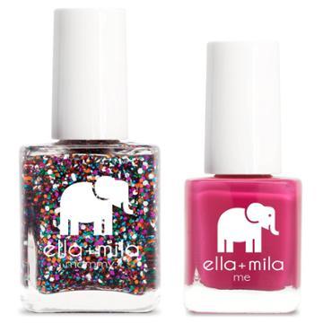 Ella+mila Mommy&me Nail Polish Set Party In A Bottle + Sweet Tart - 0.69 Fl Oz, Adult Unisex