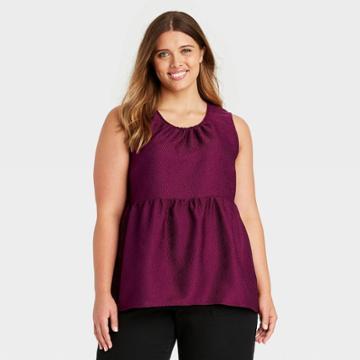 Women's Plus Size Tank Top - Who What Wear Plum Purple
