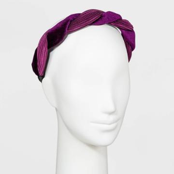 Velvet Twist Headband - A New Day Purple