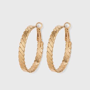Herringbone Hoop Earrings - Universal Thread Gold