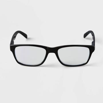Men's Rectangle Blue Light Filtering Glasses - Goodfellow & Co Black