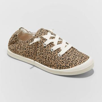 Women's Mad Love Lennie Lace Up Canvas Sneakers - Brown
