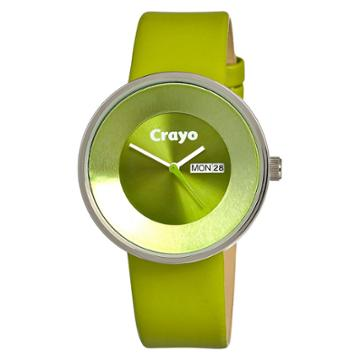 Women's Crayo Button Watch With Day And Date Display - Green,