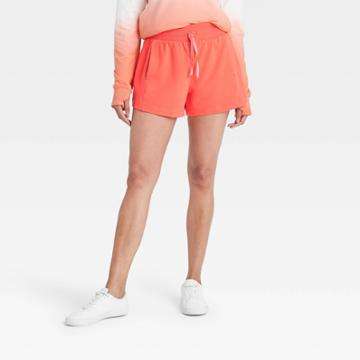 Women's Mid-rise French Terry Shorts 3.5 - All In Motion Coral