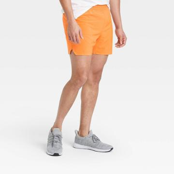 Men's 5 Lined Run Shorts - All In Motion Orange