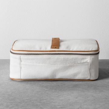 Hearth & Hand With Magnolia Cosmetic Bag Canvas - White - Hearth & Hand With