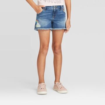 Girls' Rainbow Flip Sequins Jean Shorts - Cat & Jack Light Wash Xs, Girl's, Blue