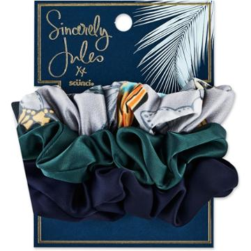 Sincerely Jules By Scunci Sincerely Jules By Scnci Satin & Printed Scrunchies