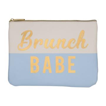 Ruby+cash Faux Leather Makeup Bag & Organizer - Brunch Babe Color Block