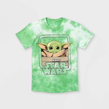 Boys' Star Wars Baby Yoda Short Sleeve Graphic T-shirt - Green